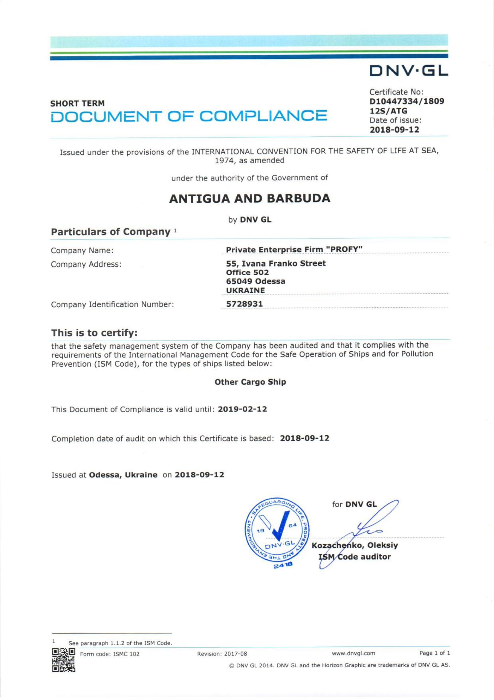 DOC Antigua & Barbuda